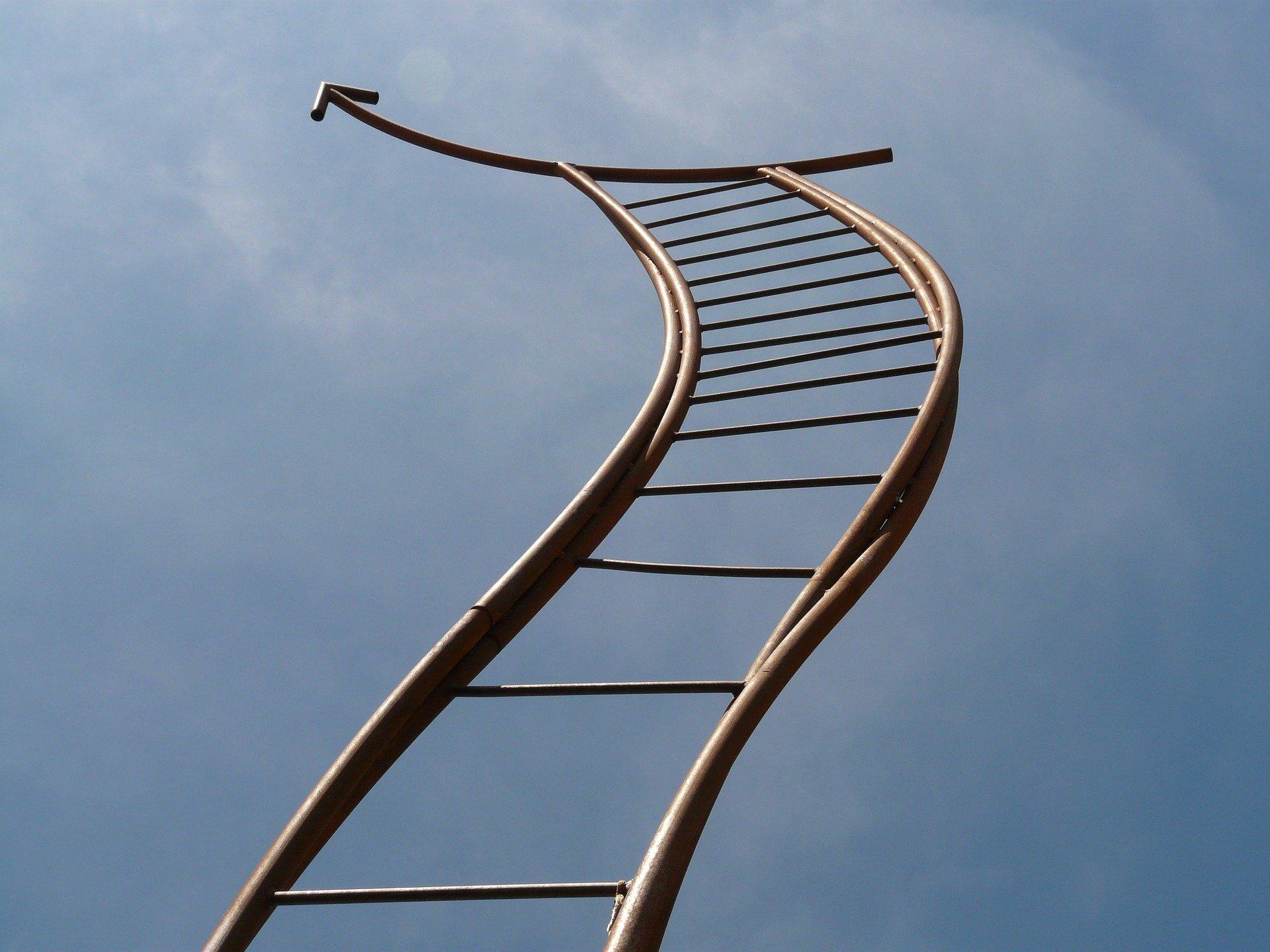Zum Glücklichsein gibt es keinen Schlüssel, nur eine Leiter