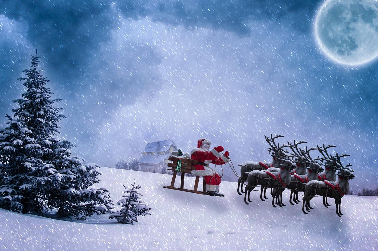 Der geliehene Schlitten des Weihnachtsmanns